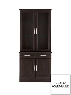 consort-kensington-ready-assembled-2-door-display-unit