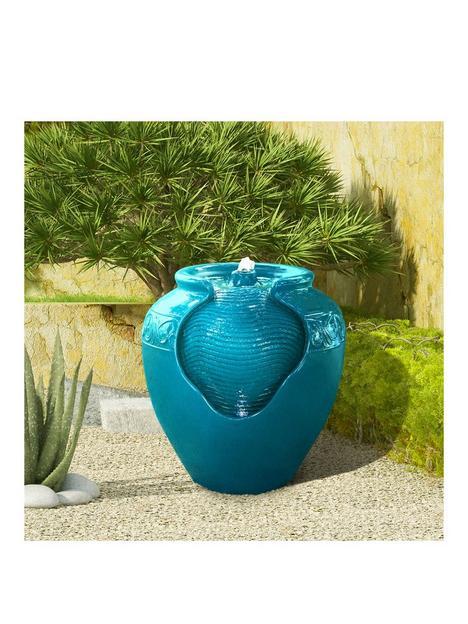 peaktop-water-fountain-indoor-conservatory-garden-teal-with-lights-yg0037az-uk