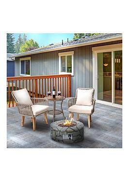 Peaktop Peaktop Firepit Outdoor Gas Fire Pit Concrete Style Cover Ignition