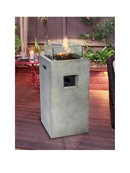 Peaktop Peaktop Firepit Outdoor Gas Fire Pit Concrete Style With Cover