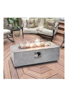Peaktop Peaktop Firepit Outdoor Gas Fire Pit Stone With Lava Rock & Cover