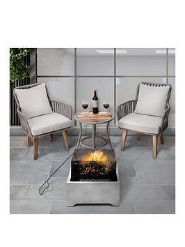 Peaktop Peaktop Firepit Wood Burning Fire Pit Concrete Style With Steel Poker