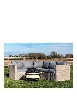 Peaktop Peaktop Firepit Wood Burning Fire Pit Concrete Style Grill Poker