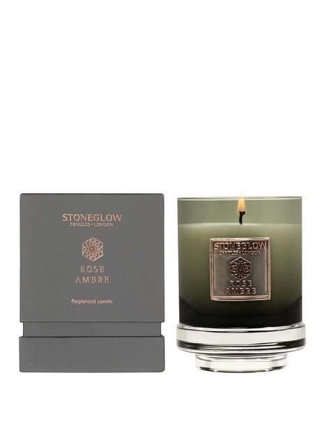 stoneglow-metallique-rose-ambre-candle
