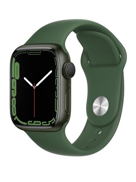 apple-watch-series-7-gps-41mm-green-aluminium-case-with-clover-sport-band