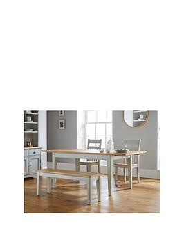 Lloyd Pascal Adrienne Dining Table + 2 Chairs And 1 Bench