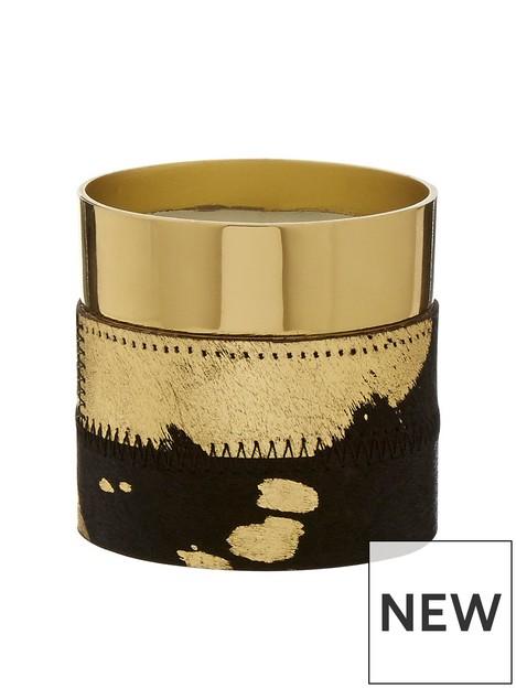 premier-housewares-bowerbird-wax-filled-cowhide-candle