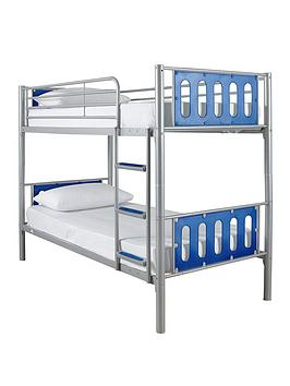 Cyber Bunk Bed Frame - Bunk Bed Frame With 2 Premium Mattresses