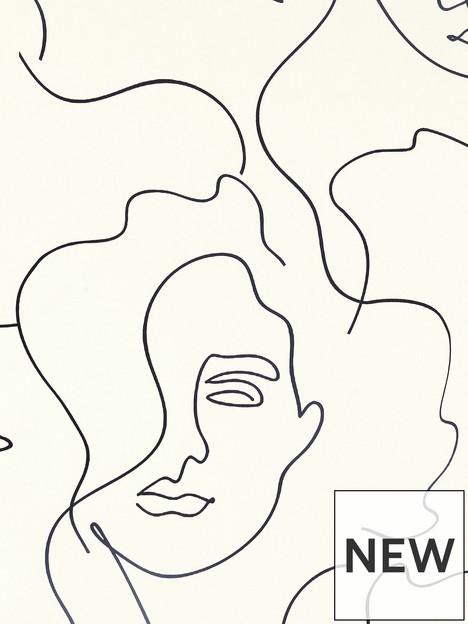 arthouse-abstract-faces-mono-wallpaper