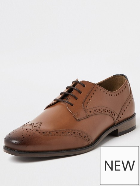 river-island-lace-up-brogues-brown