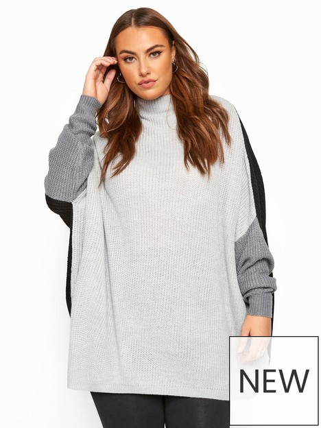 yours-yours-oversized-slouch-colourblock-jumper-multi