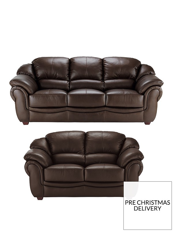 Napoli 3-Seater plus 2-Seater Leather Sofa Set (Buy and SAVE!)
