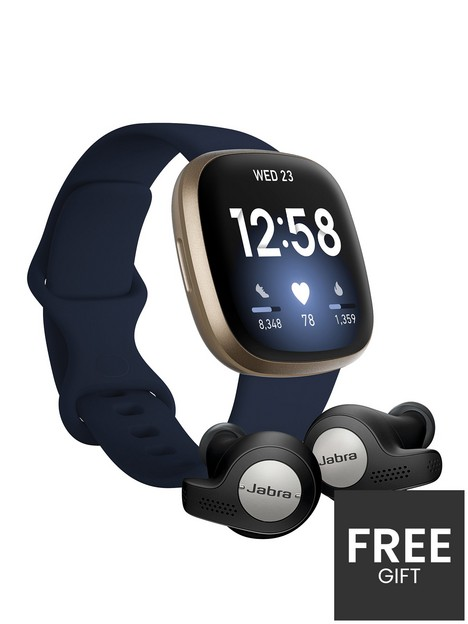 fitbit-versa-3-smartwatch-midnightsoft-gold-with-jabra-elite-65t-active-earphones-titanium-black