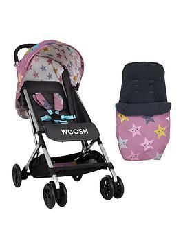Cosatto Woosh Stroller And Footmuff Bundle - Happy Heart