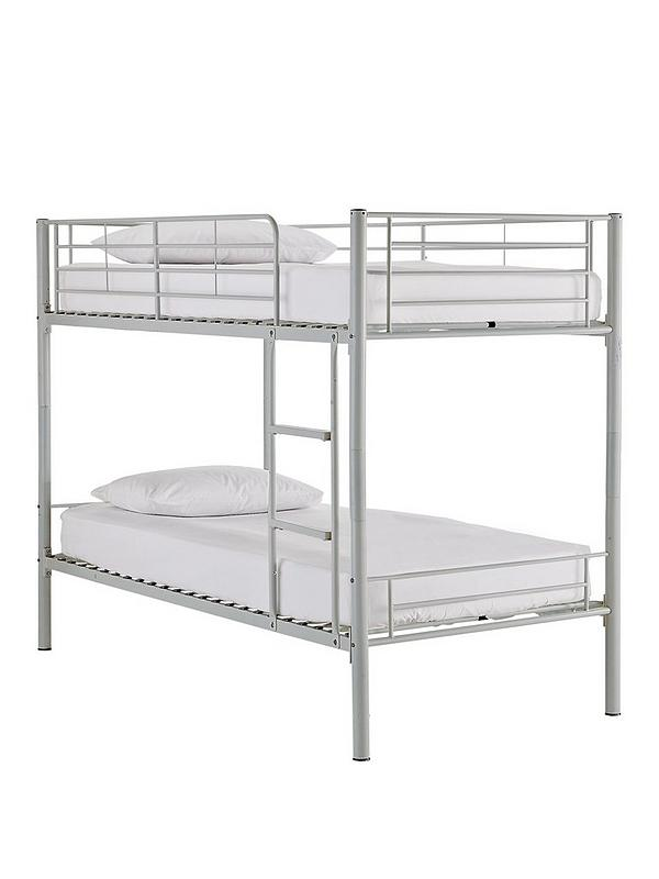 Kidspace Domino Metal Bunk Bed Frame With Mattress Options Very Co Uk