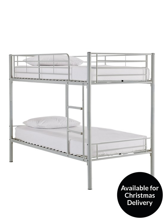 Kidspace Domino Metal Bunk Bed Frame with Mattress Options | very.co.uk