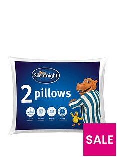 Silentnight Hippo & Duck Essentials Pillow Pair
