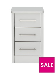 Consort Liberty Ready Assembled 3 Drawer Narrow Chest