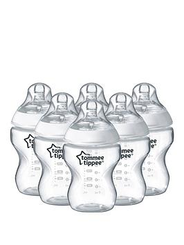 tommee-tippee-closer-to-nature-260ml9floz-feeding-bottles-6-packnbsp