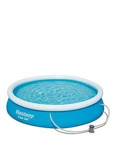 bestway-12ft-fast-set-pool-with-filter-pump