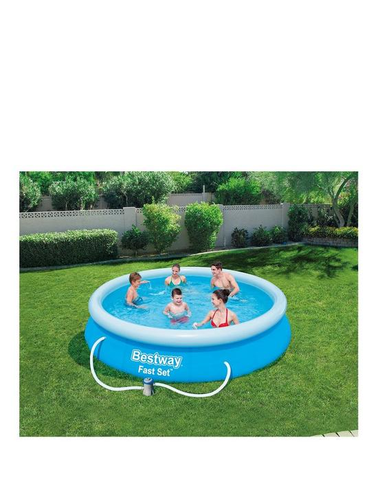 Bestway 12ft Fast Set Pool With Filter Pump Verycouk