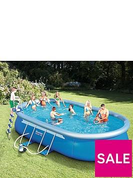 bestway 18ft fast set pool. Black Bedroom Furniture Sets. Home Design Ideas