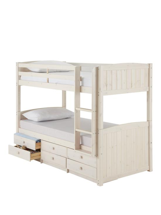 Kidspace Georgie Solid Pine Bunk Bed Frame With Storage Very Co Uk