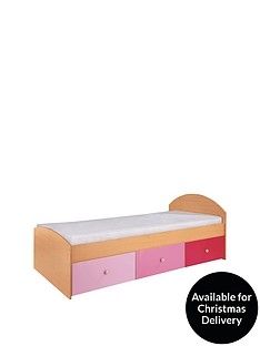 kidspace-nbspmetro-kids-single-storage-bed-frame-with-optional-mattress