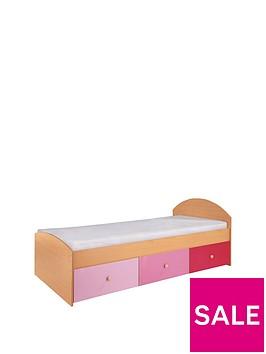 kidspace-nbspmetro-kids-single-storage-bed-frame-with-optional-mattress
