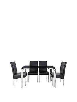 matrix-122cm-glass-dining-table-andnbsp4-chairs
