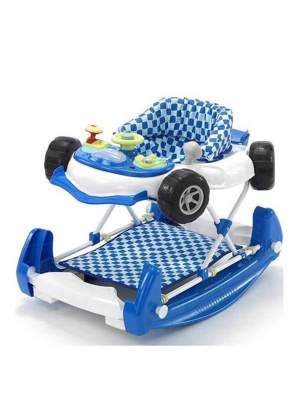 Car Baby Walker Rocker In Blue