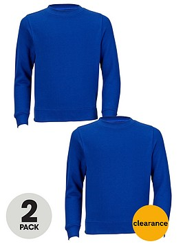 top-class-unisex-crew-neck-school-jumpers-2-pack
