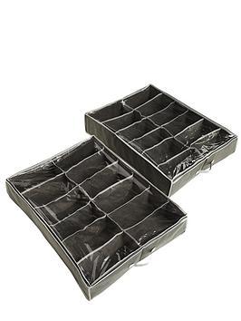 ideal-underbed-shoe-storage-organisers-2-pack