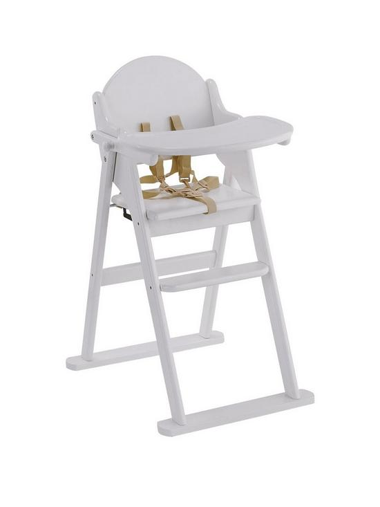 East Coast Wooden Folding Highchair   White | Very.co.uk