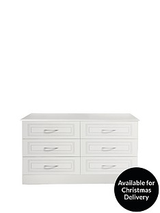 Consort Dorchester Ready Assembled 3 + 3 Chest of Drawers