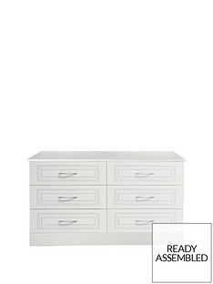 Consort Dorchester Ready Assembled 3 + 3 Drawer Chest