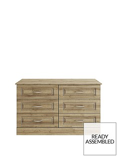 consort-dorchester-ready-assembled-3-3-drawer-chest