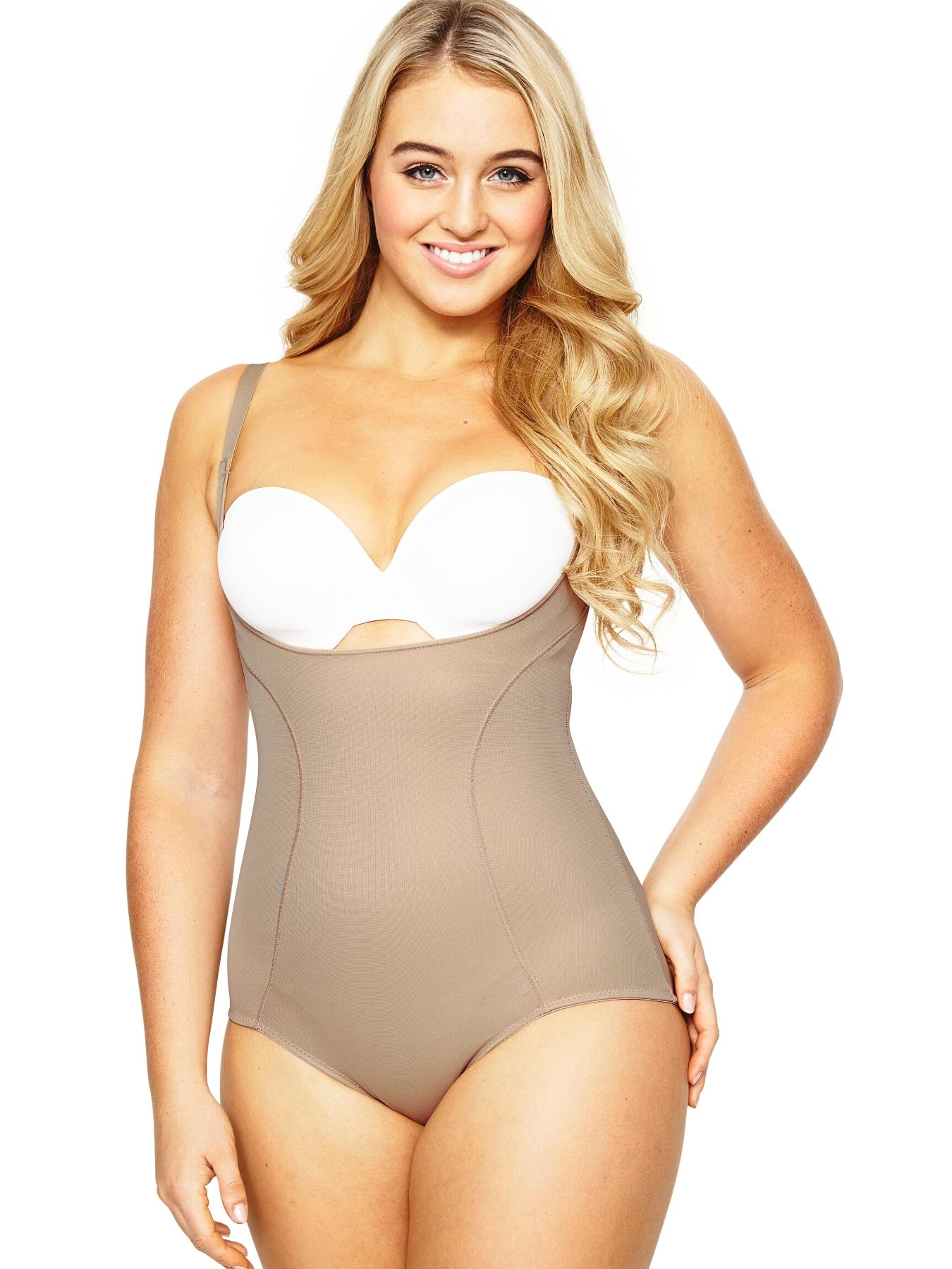 Silhouette Simply be  Control Half Slip with  Briefs in Nude Size Large