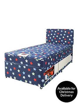 airsprung-kids-stars-amp-butterflies-storage-single-divan