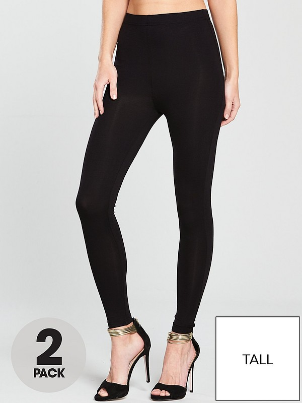 no sale tax huge selection of attractive colour Tall High Waisted Leggings (2 pack)