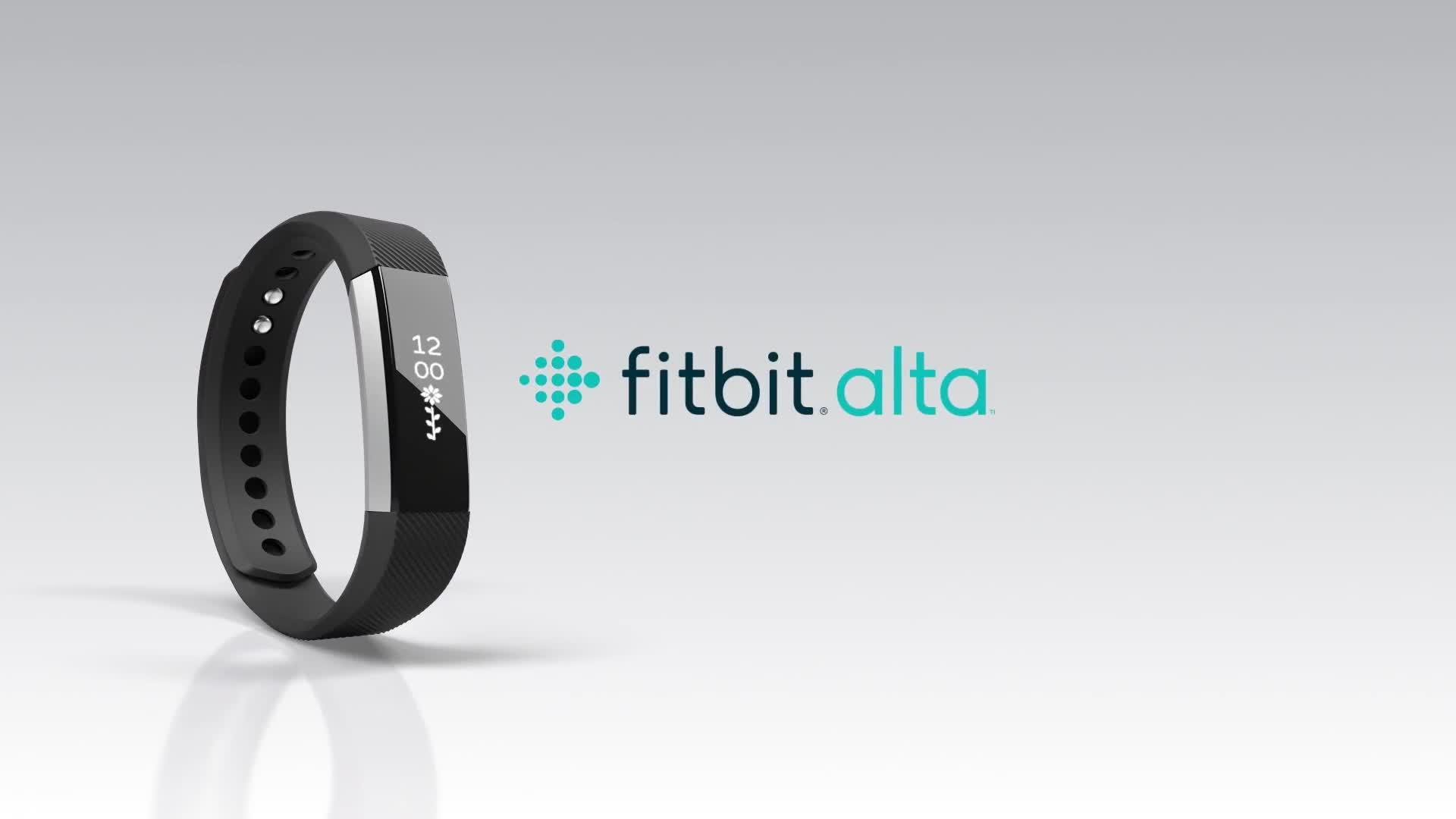 Fitbit Alta Fitness Tracker Plum Size Large