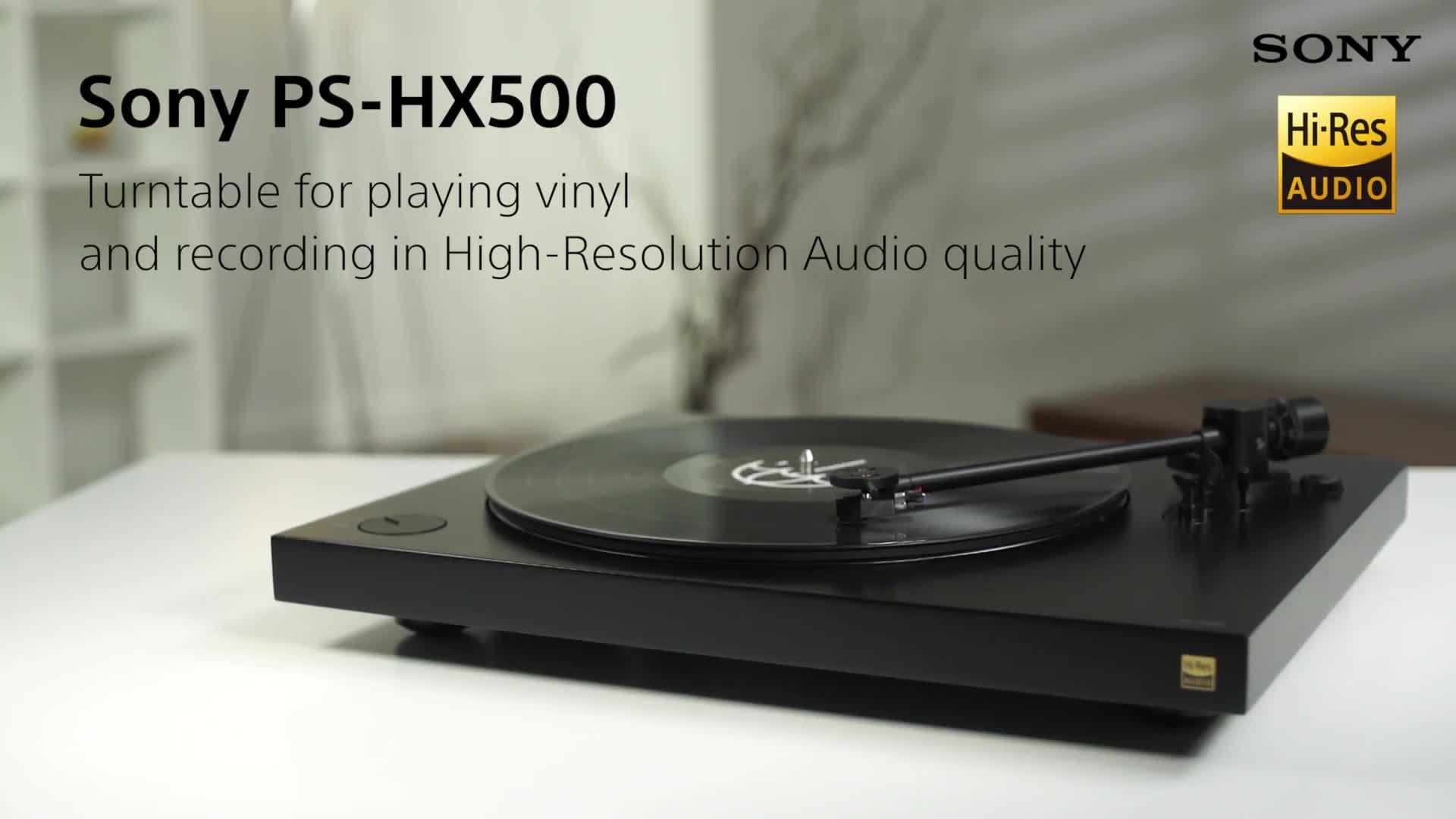 PSHX500 Turntable with Hi-Res USB Recording - Black