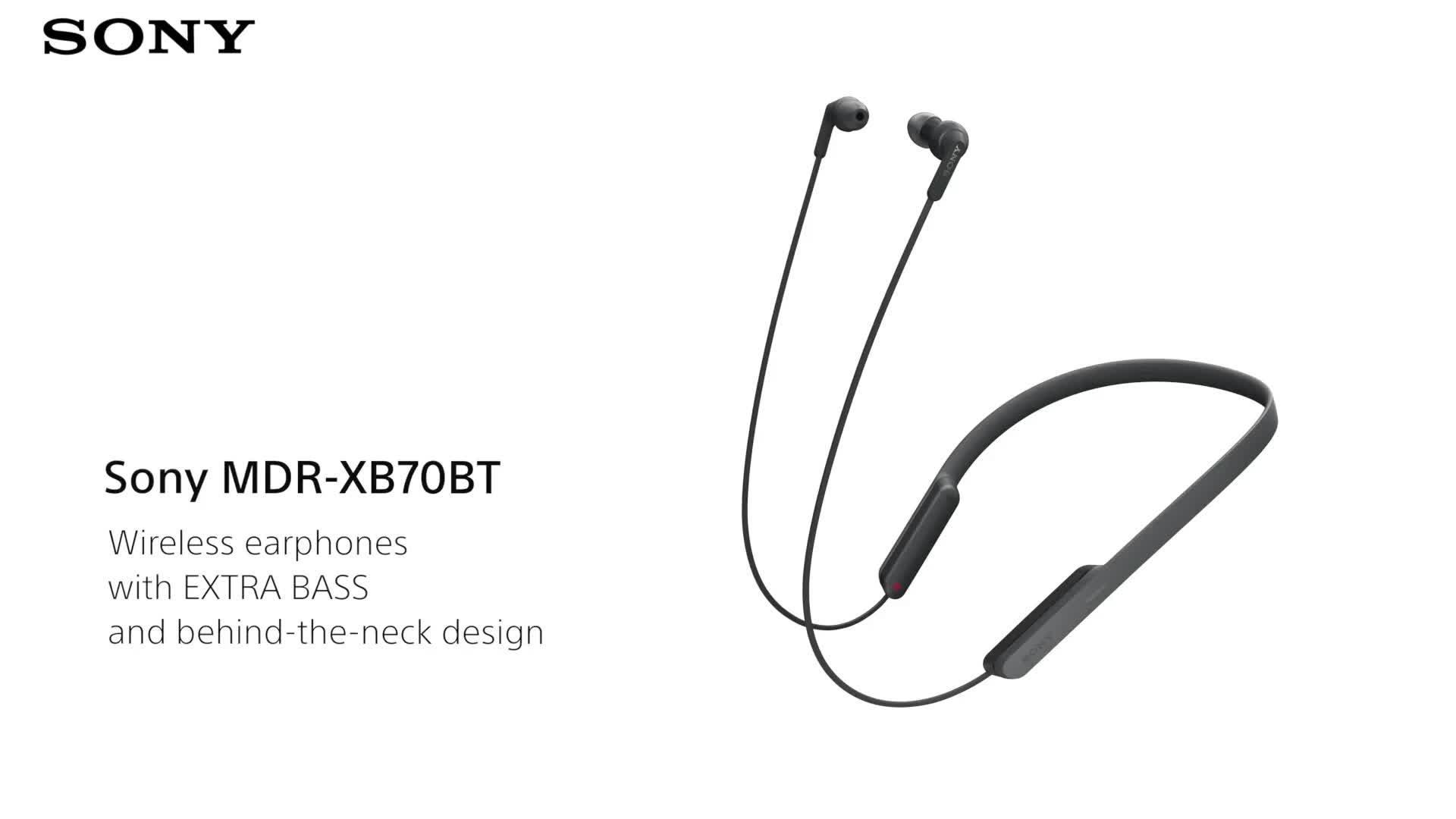 013520050e8 Sony MDR-XB70BT Extra Bass Bluetooth In-Ear Neckband Wireless Headphones -  Black   very.co.uk