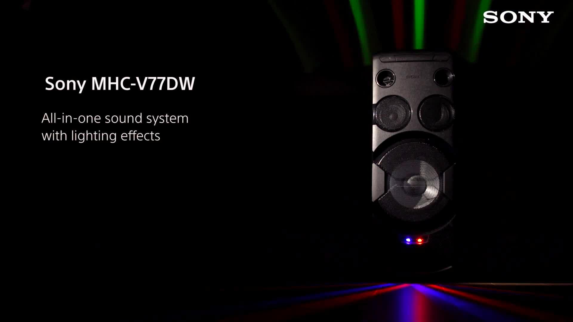 Wireless bluetooth hi fi system for home mhc v7d sony uk - Sony Mhc V77dw High Power Home Audio System With Bluetooth And Wi
