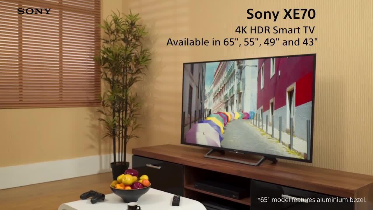sony kd55xe7002bu. sony kd55xe7002, 55 inch, 4k ultra hd certified hdr, smart tv with youview - black   very.co.uk kd55xe7002bu