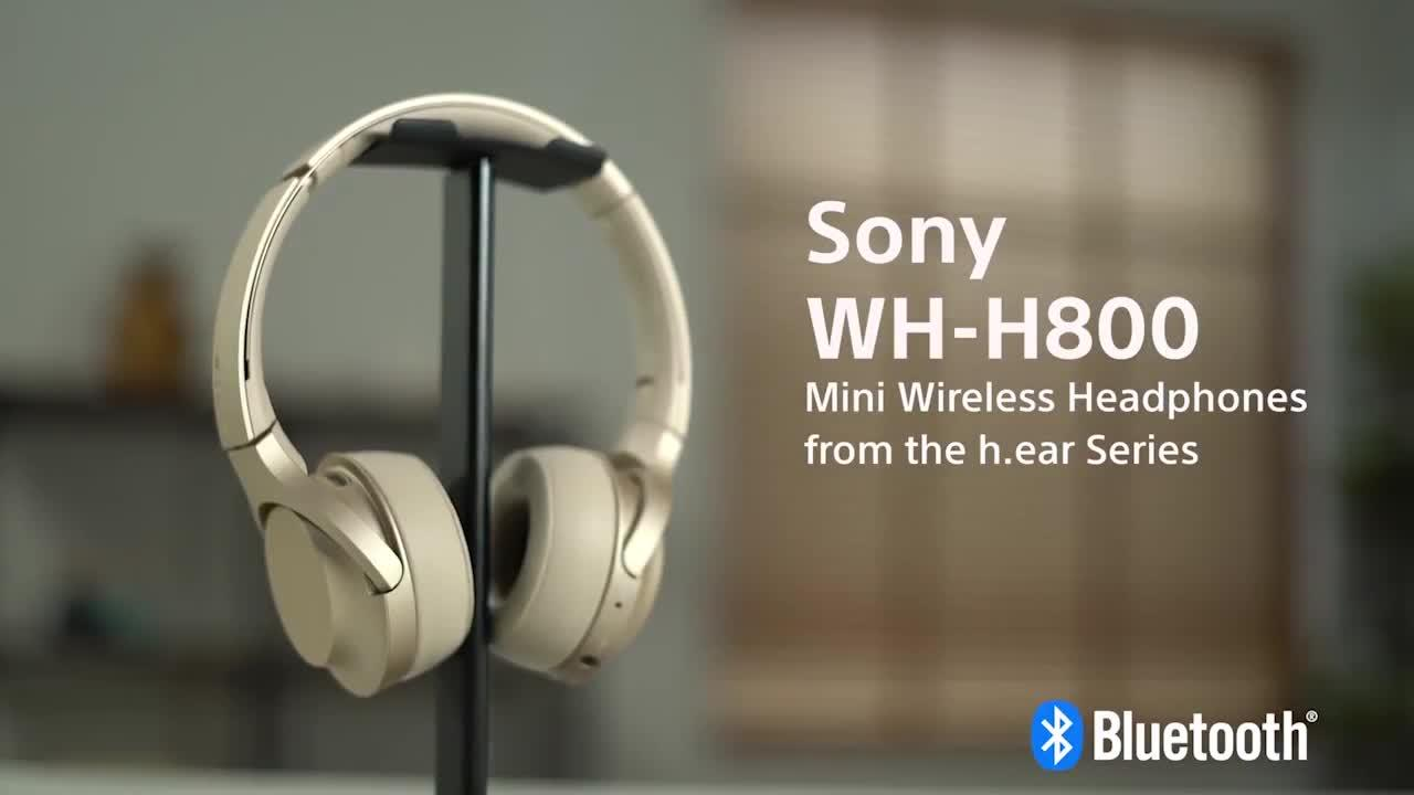 Sony WH-H800 h.ear Series Wireless On-Ear High Resolution Headphones with  24 Hours Battery Life - Gold  bac1b999655cf